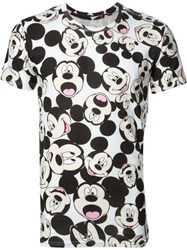 Eleven Paris Allover Mickey Mouse Print T Shirt White