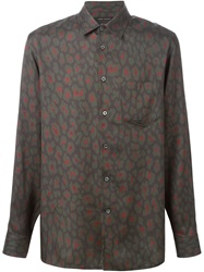 Marc Jacobs Leopard Print Shirt Green