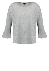 More And More Long Sleeved Top Grey Melange