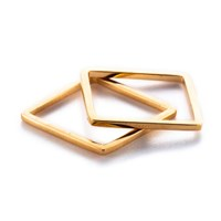 By Boe Rose Gold Square Ring