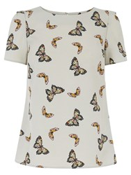 Oasis Butterfly T Shirt Mid Grey
