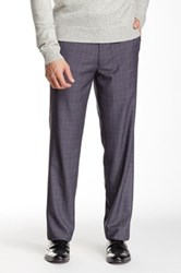 Louis Raphael Shadow Plaid Pane Tailored Modern Fit Pant Gray