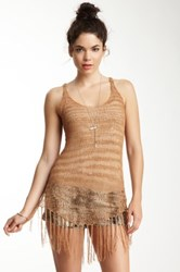 Rvca Radiant One Fringe Tank Brown
