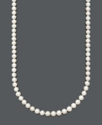 Belle De Mer Aa Cultured Freshwater Pearl Strand Necklace 8 1 2 9 1 2Mm In 14K Gold