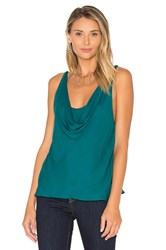 Haute Hippie The Morton Cowl Tank Teal