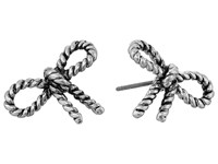 Marc Jacobs Bow Rope Bow Studs Earrings Antique Silver