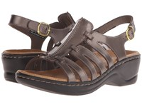 Clarks Lexi Marigold Q Pewter Leather Women's Sandals