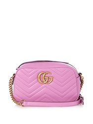 Gucci Gg Marmont Small Quilted Leather Cross Body Bag Pink