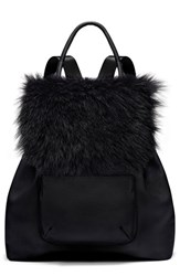 Elizabeth And James 'Langley' Leather Genuine Sheep Fur Backpack