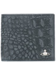 Vivienne Westwood Crocodile Effect Billfold Wallet Black