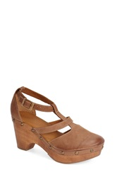Cordani 'Zoran' Platform Clog Women Cognac Leather