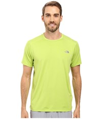 The North Face Kilowatt Short Sleeve Crew Chive Green Heather Men's Clothing Yellow
