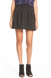 Hinge Textured Miniskirt Black