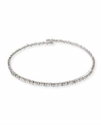 Suzanne Kalan 18K White Gold Diamond Baguette Choker Necklace 3.0 Tdcw