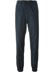 Jil Sander Navy Cuffed Track Pants Blue