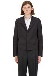 Lanvin Short Deconstructed Blazer Jacket Black