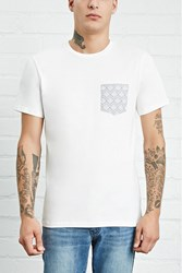 Forever 21 Geo Print Pocket Cotton Tee