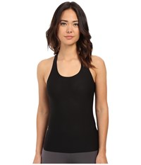 Spanx Perforated Racerback Tank Top Very Black Women's Sleeveless