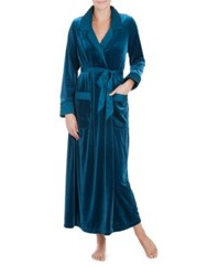 Jonquil Peacock Long Velvet Robe Peacock Blue