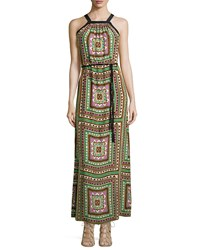 Alice And Trixie Chelsea Long Geometric Print Dress Shamrock 144