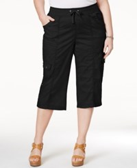Styleandco. Style And Co. Sport Plus Size Woven Capri Pants Only At Macy's