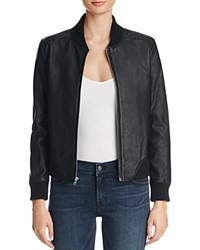 Bb Dakota Alastair Faux Leather Bomber Jacket Black