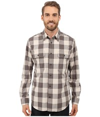 Filson Kitsap Work Shirt Flint Gray Buffalo Men's Clothing Brown