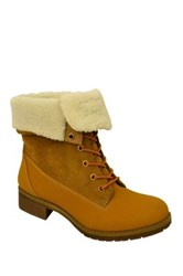 Twisted Bristol Faux Fur Boot Brown