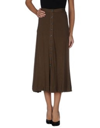 Edun 3 4 Length Skirts Military Green