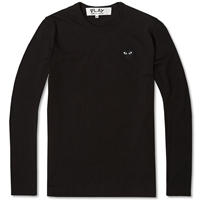 Comme Des Garcons Play Long Sleeve Tee Black And Black