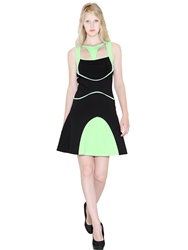 Space Style Concept Techno Jersey '30S Dress Black Green