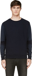 Robert Geller Seconds Navy Two Tone Sweatshirt
