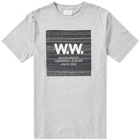 Wood Wood Ww Square Tee Grey