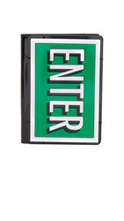 Yazbukey Enter And Exit Passport Holder Green Red