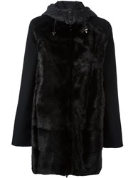 P.A.R.O.S.H. 'Link' Furred Coat Black