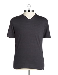 Vince Camuto Cotton V Neck Tee Black
