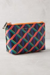 Anthropologie Los Feliz Cosmetic Bag Orange