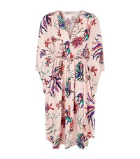 Emilio Pucci Cactus Flower Silk Kaftan Dress Female Pink