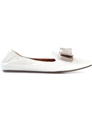 Lanvin Bow Slippers White