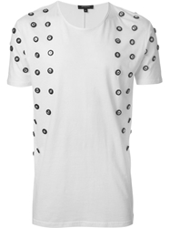 Unconditional Button Embellished T Shirt White