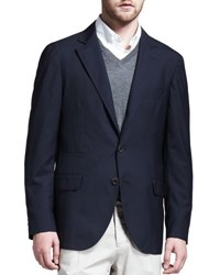Brunello Cucinelli Deconstructed Travel Jacket Navy