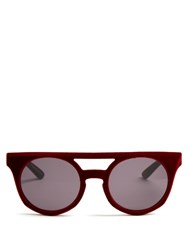 Italia Independent Velvet Coated Sunglasses Red