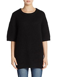 Marc By Marc Jacobs Wally Chunky Knit Crew Sweater Black