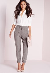 Missguided Peached Joggers Grey Grey