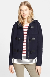 Burberry Hooded Toggle Jacket Navy