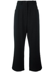 Rundholz Cropped Trousers Black