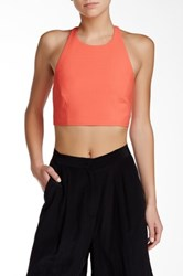 Elizabeth And James Hupton Halter Blouse Orange