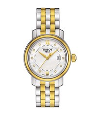 Tissot Diamond And Mother Of Pearl Two Tone Stainless Steel Bracelet Watch