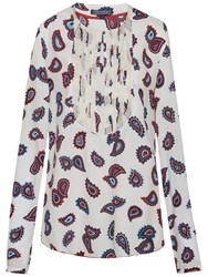Tommy Hilfiger Ruth Paisley Blouse Caris Paisley Snow White