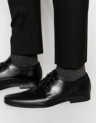 New Look Derby Shoes With Perforated Detail In Black Black